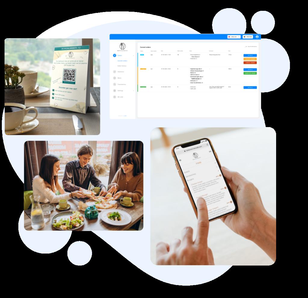 Digitalt menukort til Caféer & Restauranter